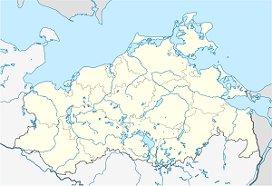 Map of Waren (Müritz) with markings for the individual supporters