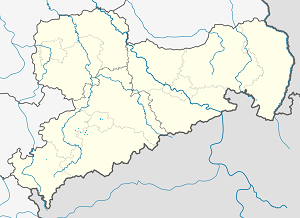 Map of Lugau/Erzgeb. with markings for the individual supporters