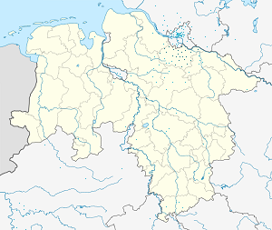 Map of Landkreis Harburg with markings for the individual supporters