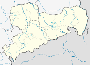 Map of Landkreis Sächsische Schweiz-Osterzgebirge with markings for the individual supporters