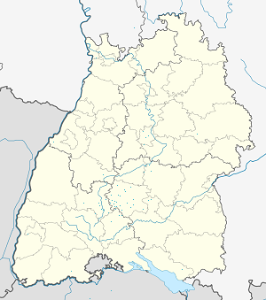 Map of Regierungsbezirk Tübingen with markings for the individual supporters