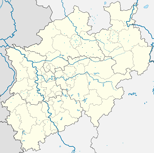 Map of Kreis Warendorf with markings for the individual supporters