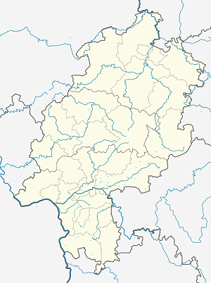 Map of Regierungsbezirk Darmstadt with markings for the individual supporters