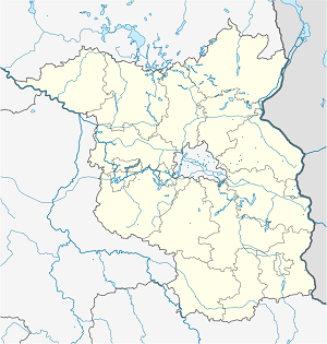 Map of Rehfelde with markings for the individual supporters