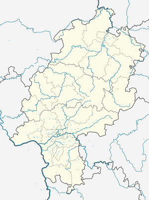 Map of Frankfurt with markings for the individual supporters