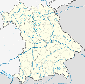 Map of Landkreis Bamberg with markings for the individual supporters