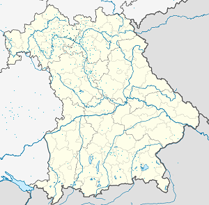 Map of Haßberge with markings for the individual supporters