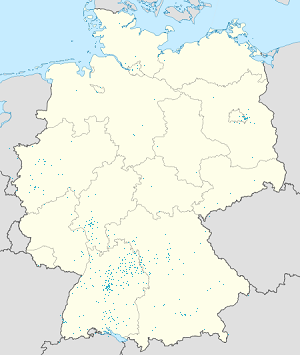 Map of Hohenlohe with markings for the individual supporters