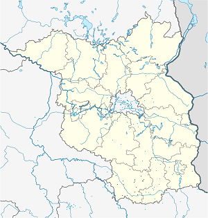 Map of Elbe-Elster District with markings for the individual supporters