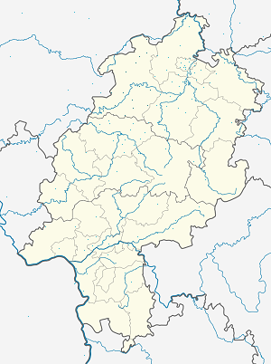 Map of Waldeck-Frankenberg with markings for the individual supporters