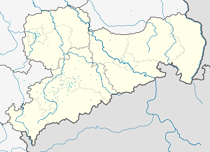 Map of Glauchau with markings for the individual supporters