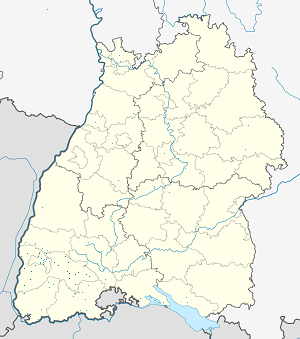 Map of Breisgau-Hochschwarzwald with markings for the individual supporters