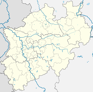 Map of Münster (Westfalen) with markings for the individual supporters