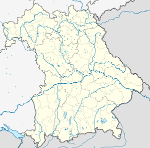 Map of Oberfranken with markings for the individual supporters
