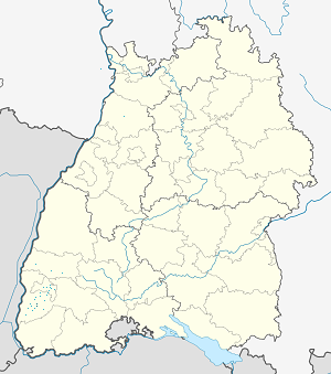 Map of Staufen im Breisgau with markings for the individual supporters