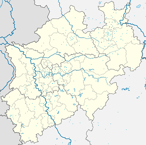 Map of Kreis Herford with markings for the individual supporters