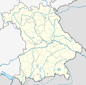 Map of Schwandorf with markings for the individual supporters