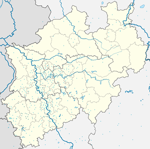 Map of Düren with markings for the individual supporters