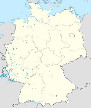 Map of Community territory of Germany and Luxembourg with markings for the individual supporters