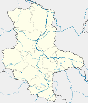 Map of Landsberg (Saalekreis) with markings for the individual supporters