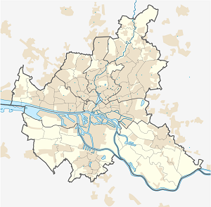 Map of Bezirk Hamburg-Nord with markings for the individual supporters