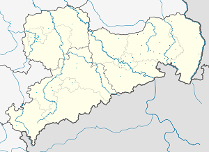 Map of Landkreis Bautzen with markings for the individual supporters