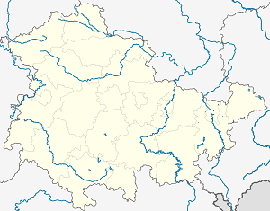Map of Gera with markings for the individual supporters