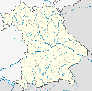 Map of Middle Franconia with markings for the individual supporters