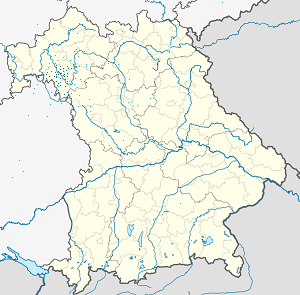 Map of Landkreis Würzburg with markings for the individual supporters