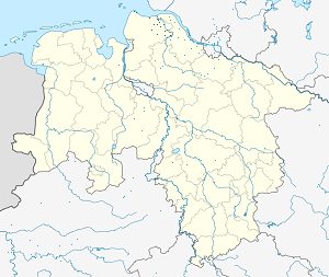 Map of Landkreis Cuxhaven with markings for the individual supporters