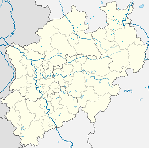 Map of Lübbecke with markings for the individual supporters