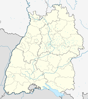 Map of Schwäbisch Gmünd with markings for the individual supporters