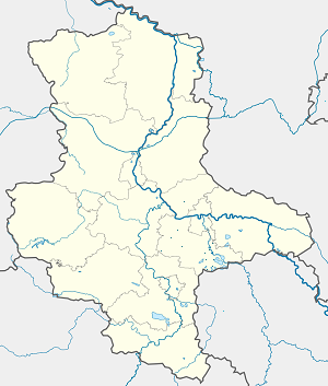 Map of Landkreis Anhalt-Bitterfeld with markings for the individual supporters