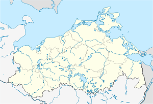 Map of Ludwigslust-Parchim District with markings for the individual supporters
