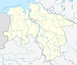 Map of Geestland with markings for the individual supporters