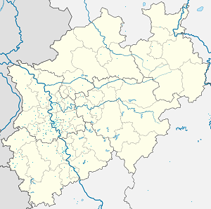 Map of Grevenbroich with markings for the individual supporters