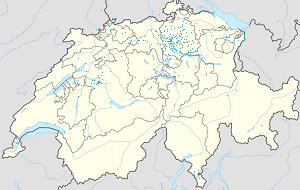Map of canton of Zürich with markings for the individual supporters