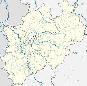 Map of Recklinghausen with markings for the individual supporters