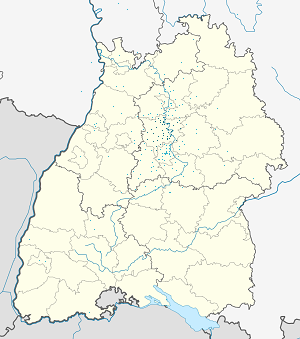 Map of Landkreis Ludwigsburg with markings for the individual supporters