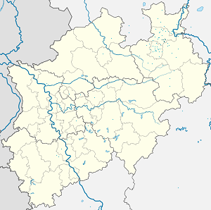 Map of Herford with markings for the individual supporters