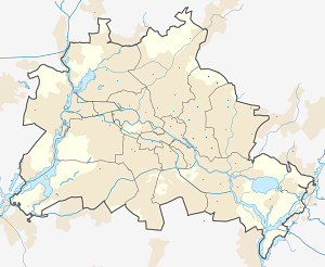 Map of Bezirk Lichtenberg with markings for the individual supporters