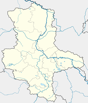 Map of Halle (Saale) with markings for the individual supporters