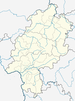 Map of Hofheim am Taunus with markings for the individual supporters