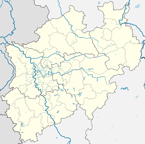 Map of Duisburg with markings for the individual supporters