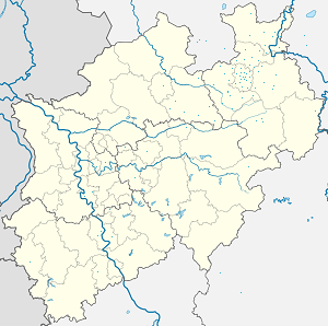 Map of Bielefeld-Mitte with markings for the individual supporters