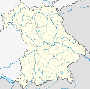 Map of Lauf an der Pegnitz with markings for the individual supporters