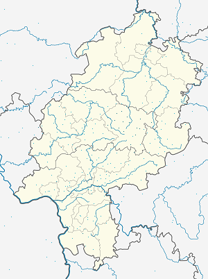 Map of Vogelsbergkreis with markings for the individual supporters