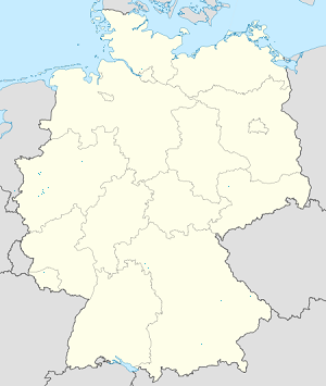 Map of Bundesrepublik Deutschland with markings for the individual supporters