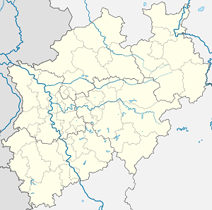 Map of Sundern (Sauerland) with markings for the individual supporters
