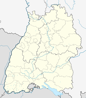 Map of Landkreis Waldshut with markings for the individual supporters